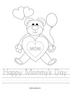 Happy Mommy's Day Handwriting Sheet