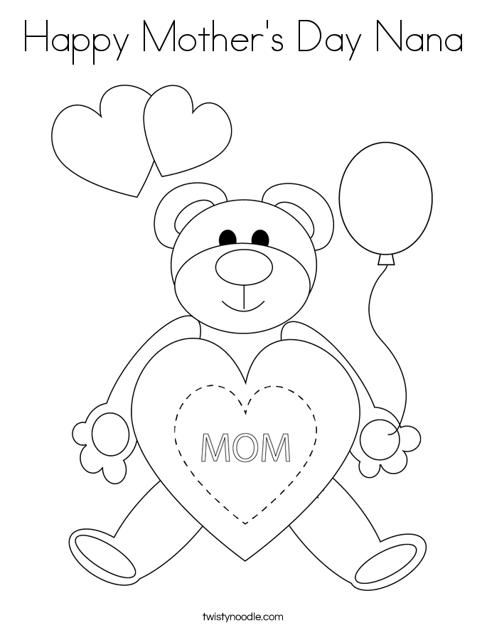Happy Birthday Nana Coloring Pages #8