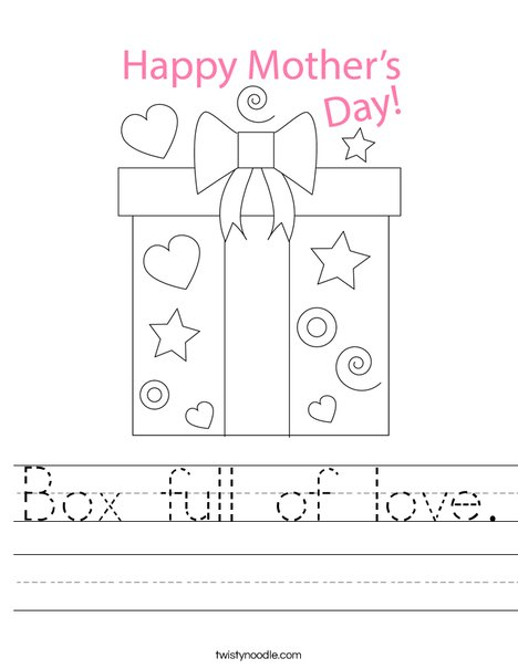 Mother's Day Present Worksheet