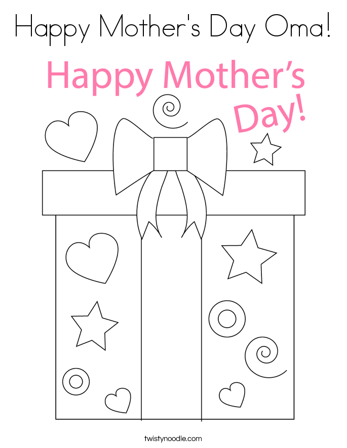 Happy Mother's Day Oma! Coloring Page