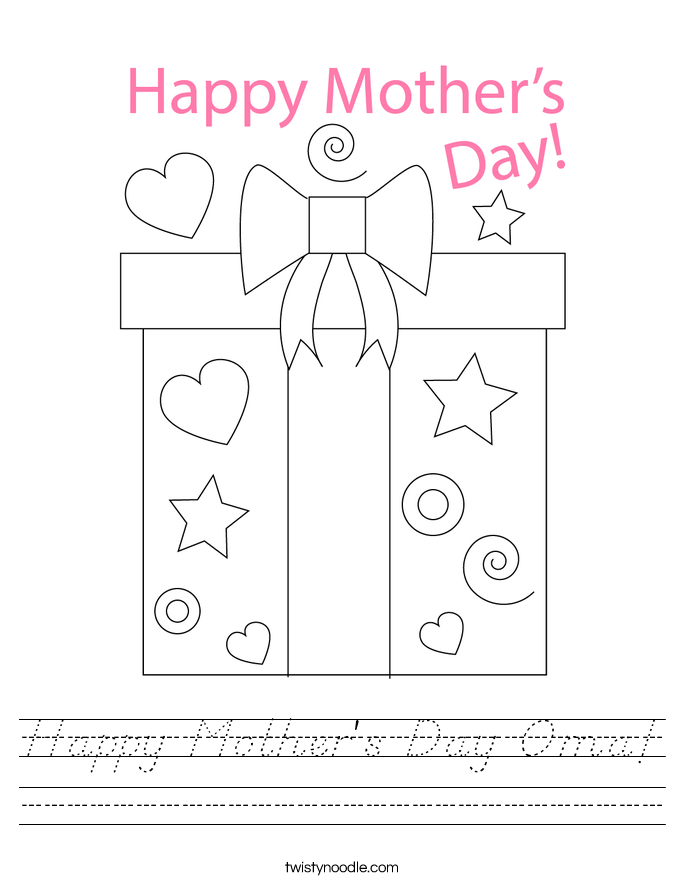 Happy Mother's Day Oma! Worksheet