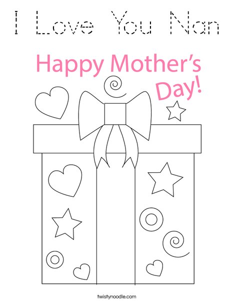 Mother's Day Present Coloring Page