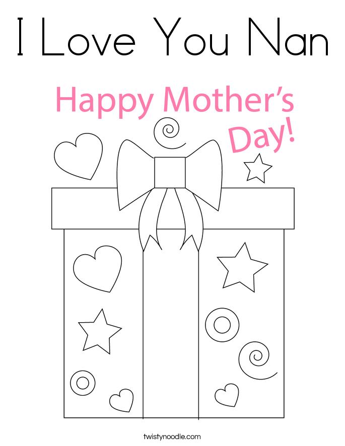 I Love You Nan Coloring Page