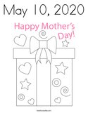 May 10, 2020 Coloring Page