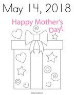 May 14, 2018 Coloring Page