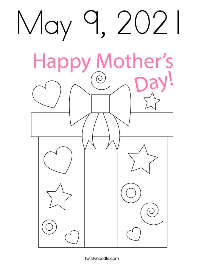 May 9, 2021 Coloring Page