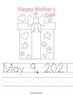 May 9, 2021 Handwriting Sheet