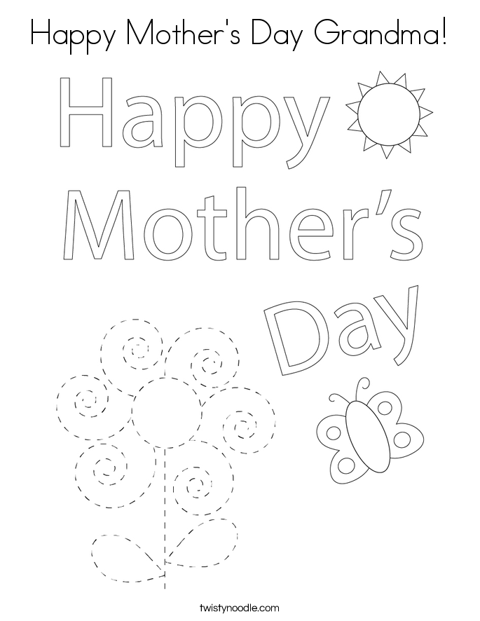 happy mothers day grandma coloring page - Mothers Day Coloring Pages