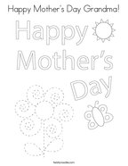 Happy Mother's Day Grandma Coloring Page