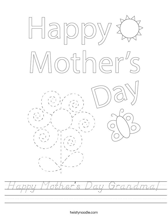 Happy Mother's Day Grandma! Worksheet