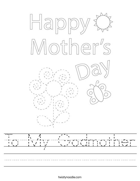 Happy Mother's Day Bear Worksheet