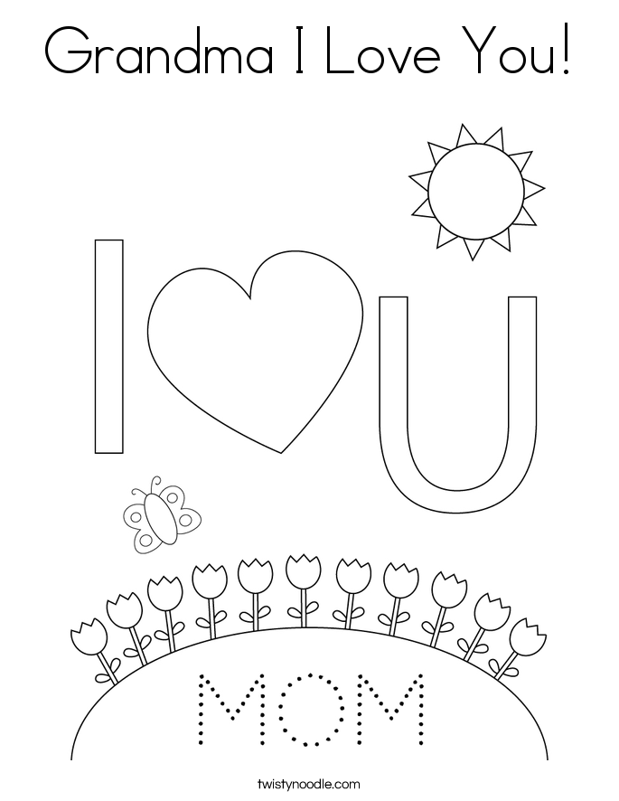 i love you nana coloring pages - photo #18