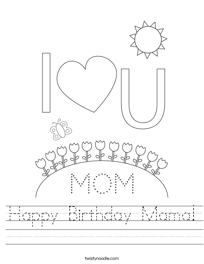 Happy Birthday Mama! Worksheet