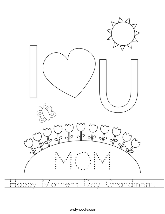 Happy Mother's Day Grandmom! Worksheet