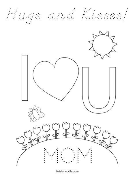 Happy Mother's Day Bears Coloring Page