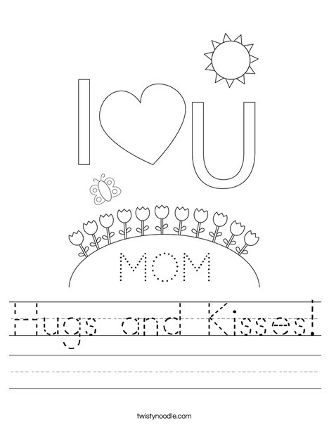 Happy Mother's Day Bears Worksheet