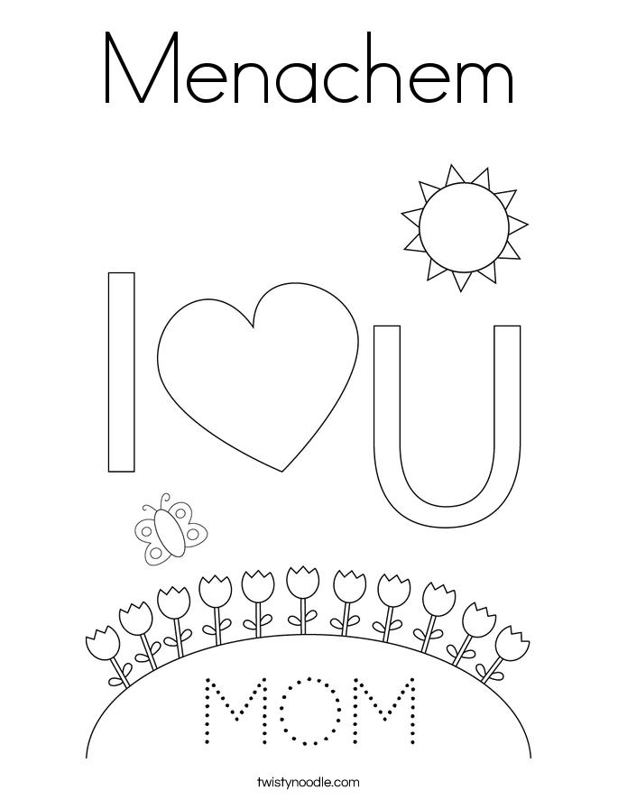 Menachem Coloring Page