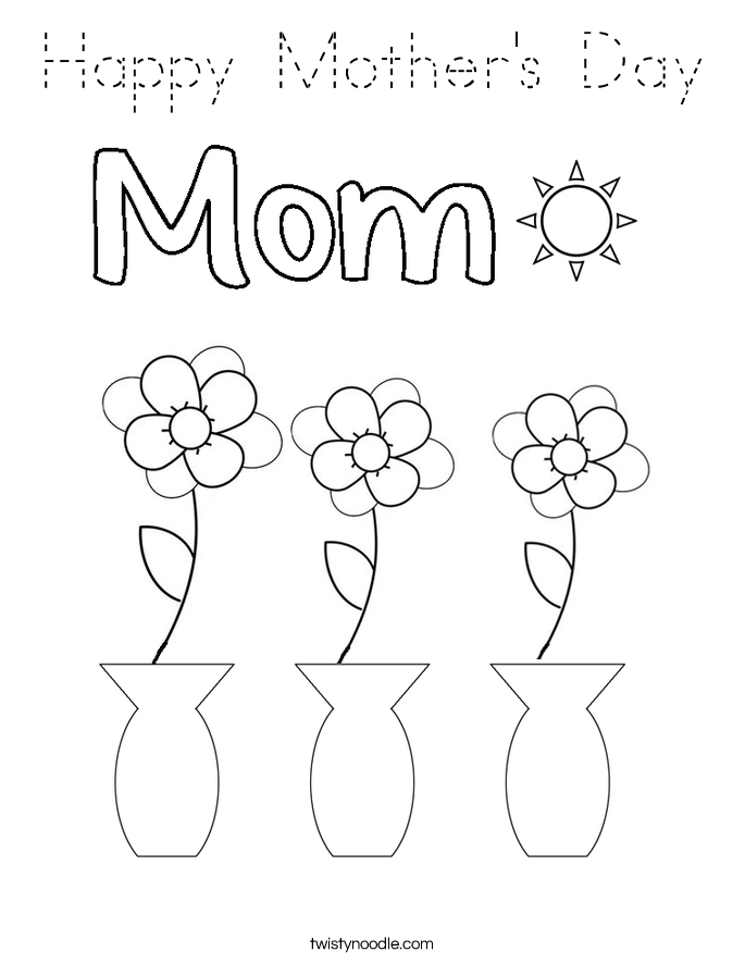 Happy Mother's Day Coloring Page
