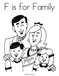 F is for FamilyColoring Page