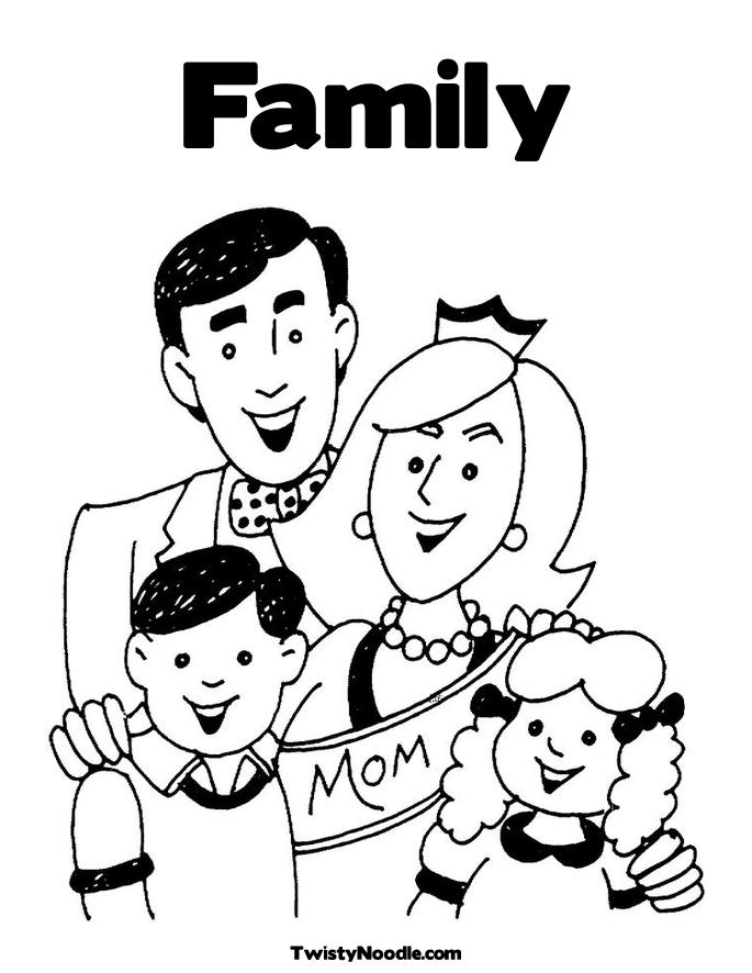Family Coloring Sheet Family Coloring Pages