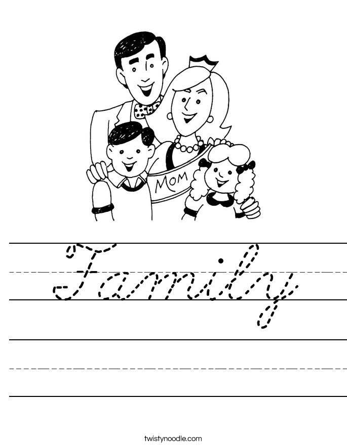 Family Worksheet