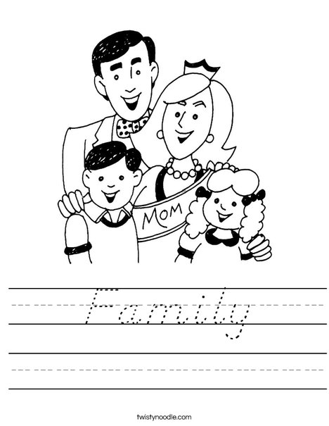 Mom and Family Worksheet