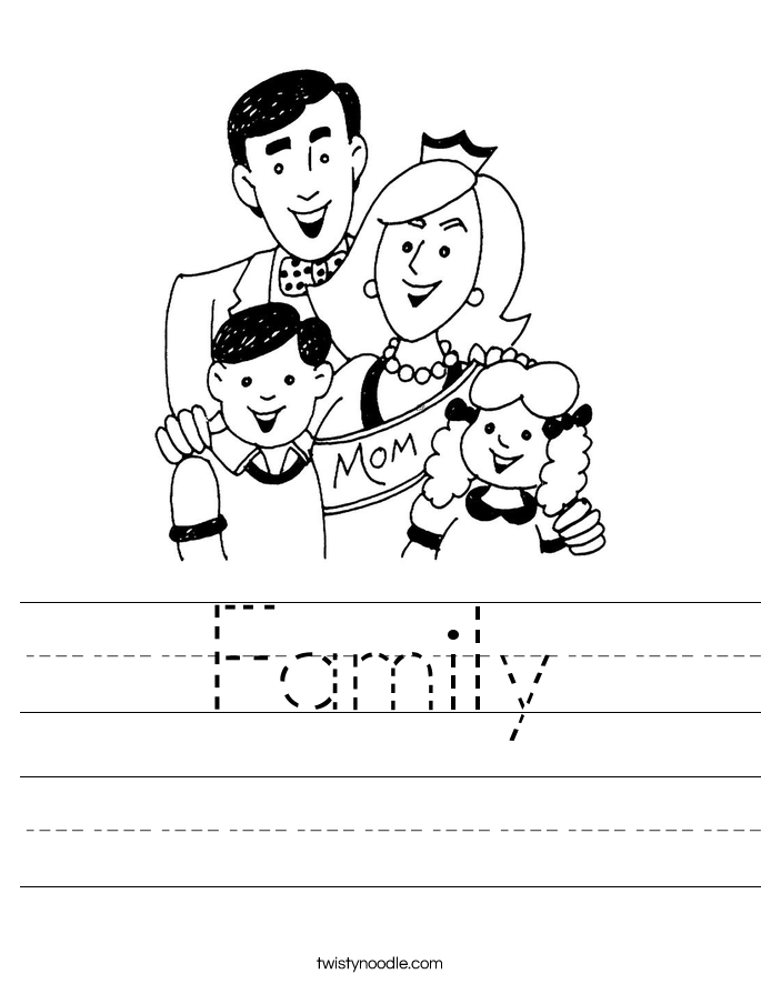 Family Worksheet Twisty Noodle – La Familia Worksheets