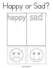 Happy or Sad Coloring Page