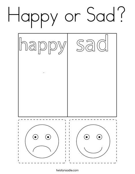 Happy or Sad? Coloring Page
