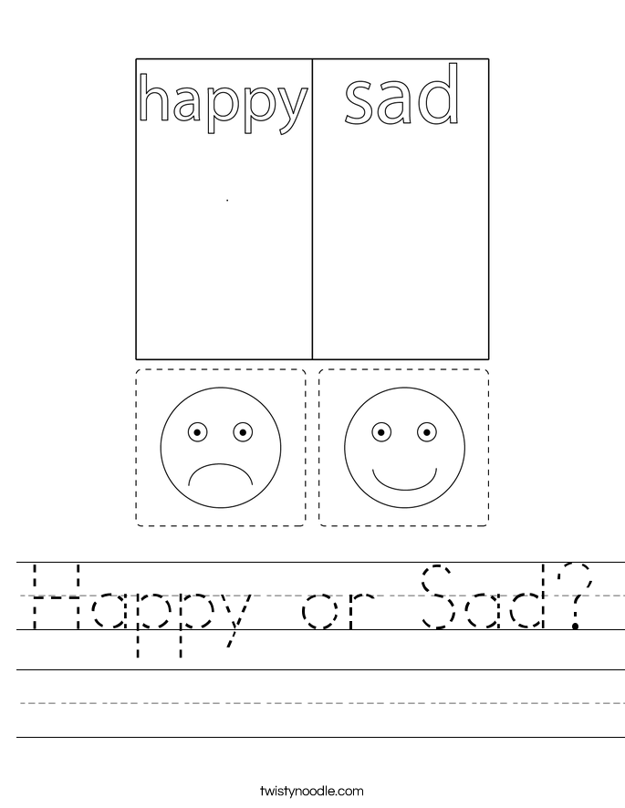Happy or Sad? Worksheet