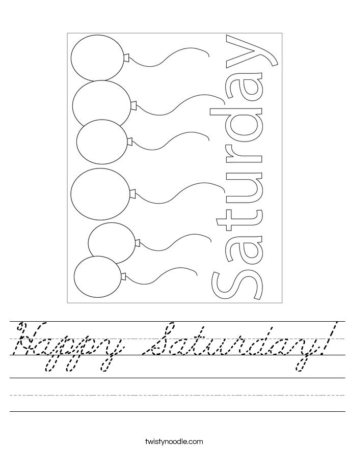 Happy Saturday! Worksheet