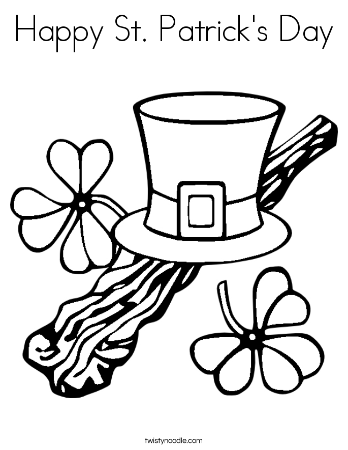 happy st patricks day coloring page