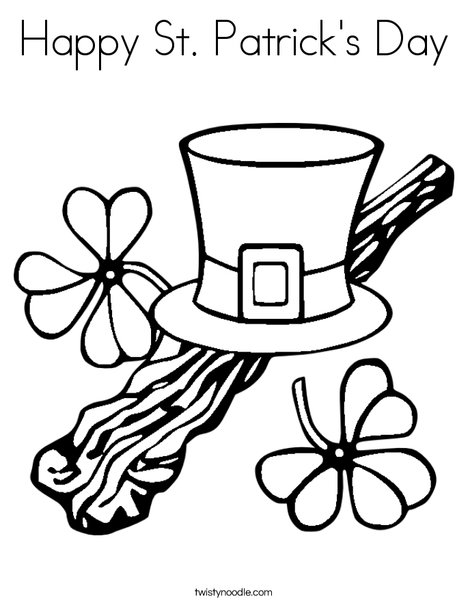 Happy St. Patricku0027s Day Coloring Page