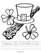 Happy St Patrick's Day Handwriting Sheet