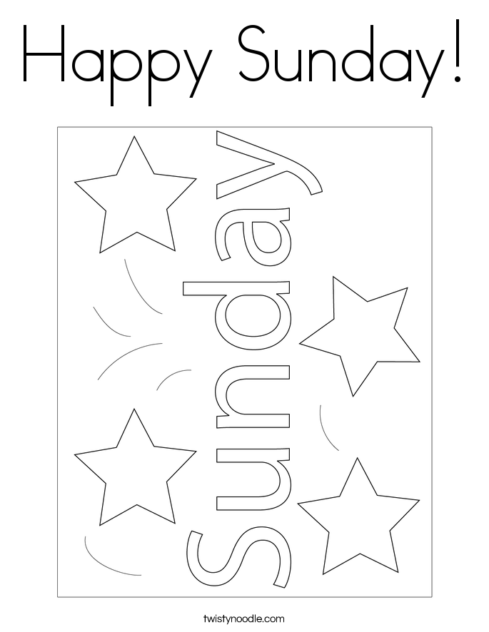 Happy Sunday! Coloring Page