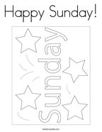 Happy Sunday Coloring Page