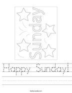 Happy Sunday Handwriting Sheet