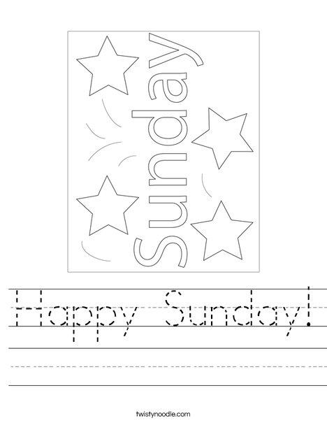 Happy Sunday! Worksheet