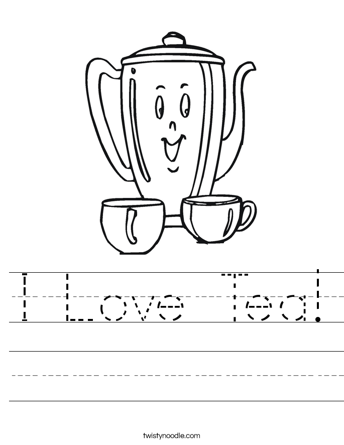 I Love Tea! Worksheet