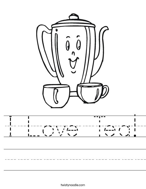 Happy Teapot Worksheet