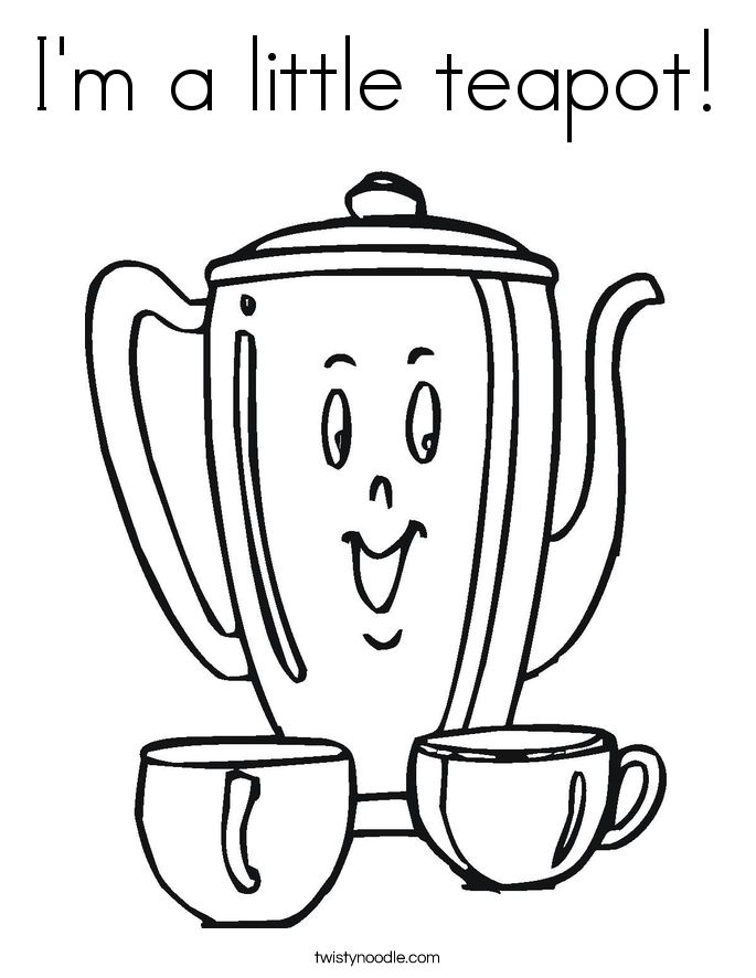 i am a little teapot coloring pages - photo #3