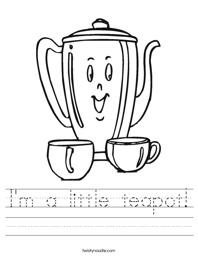 i am a little teapot coloring pages - photo #19