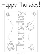 Happy Thursday Coloring Page