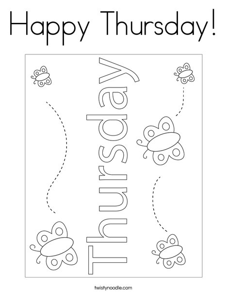 Happy Thursday! Coloring Page
