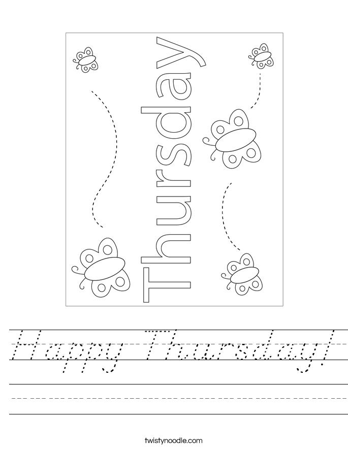 Happy Thursday! Worksheet