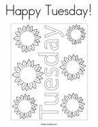 Happy Tuesday Coloring Page