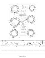 Happy Tuesday Handwriting Sheet