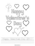 Happy Valentine's Day 2017 Worksheet
