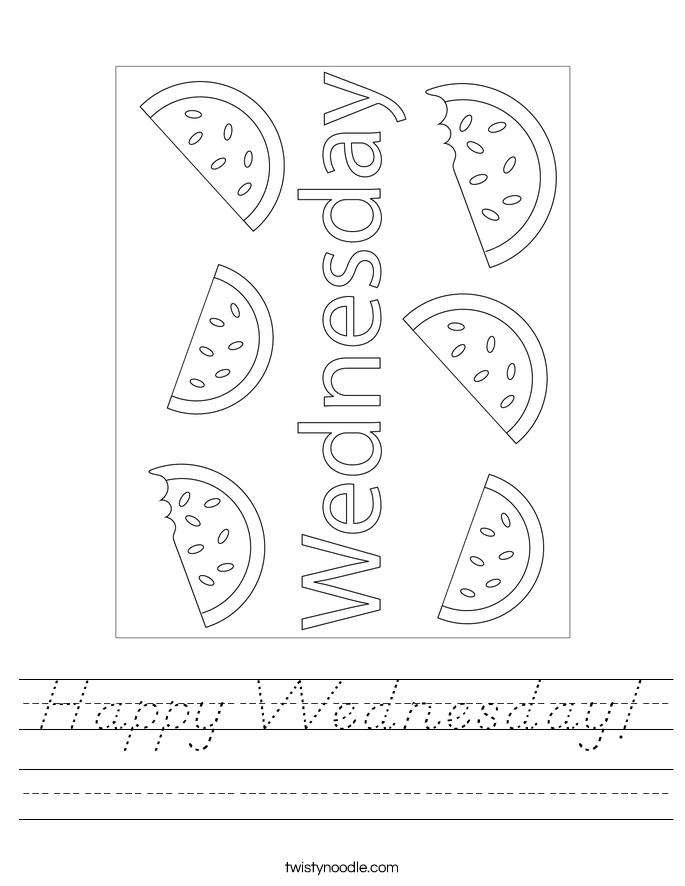 Happy Wednesday! Worksheet