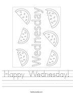 Happy Wednesday Handwriting Sheet